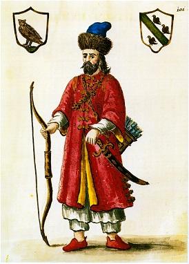 https://upload.wikimedia.org/wikipedia/commons/3/3d/Marco_Polo_-_costume_tartare.jpg >>>> Fonte: Wikimedia Autore: Grevembrock Licenza: Public Domain